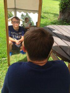 i-spegeln